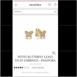 PANDORA 14K GOLD STUD EARRINGS